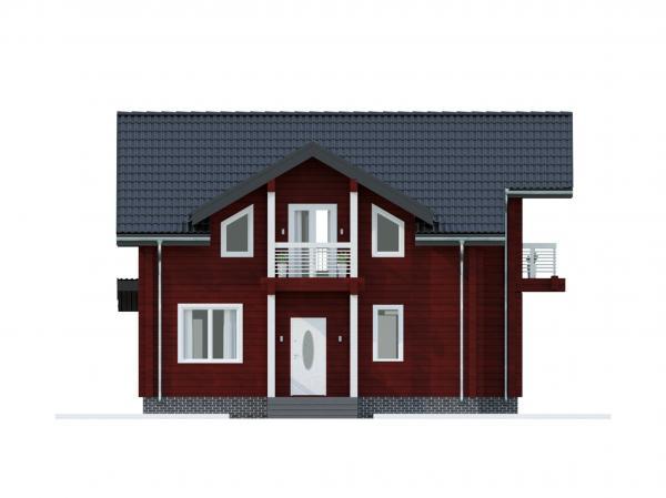 """Двухэтажный дом с мансардой из профилированного бруса """"Олимп"""""""