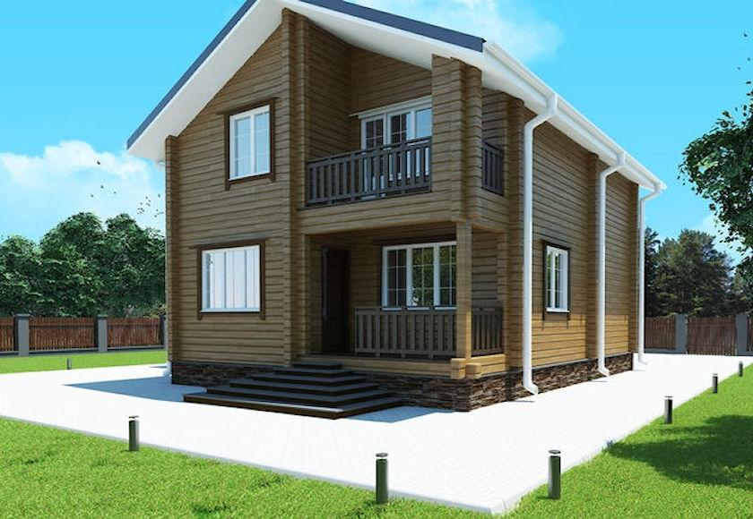 """Двухэтажный дом из профилированного бруса """"Эра"""""""