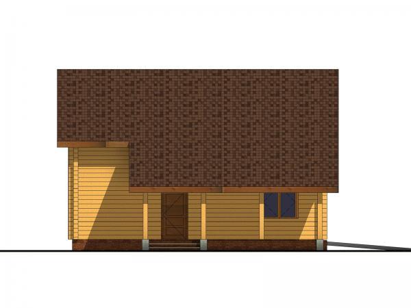 """Двухэтажный дом с мансардой из профилированного бруса """"Анталия"""""""