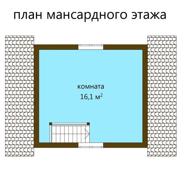 """КАРКАСНЫЙ ДОМ 4*6М """"Журавль"""""""