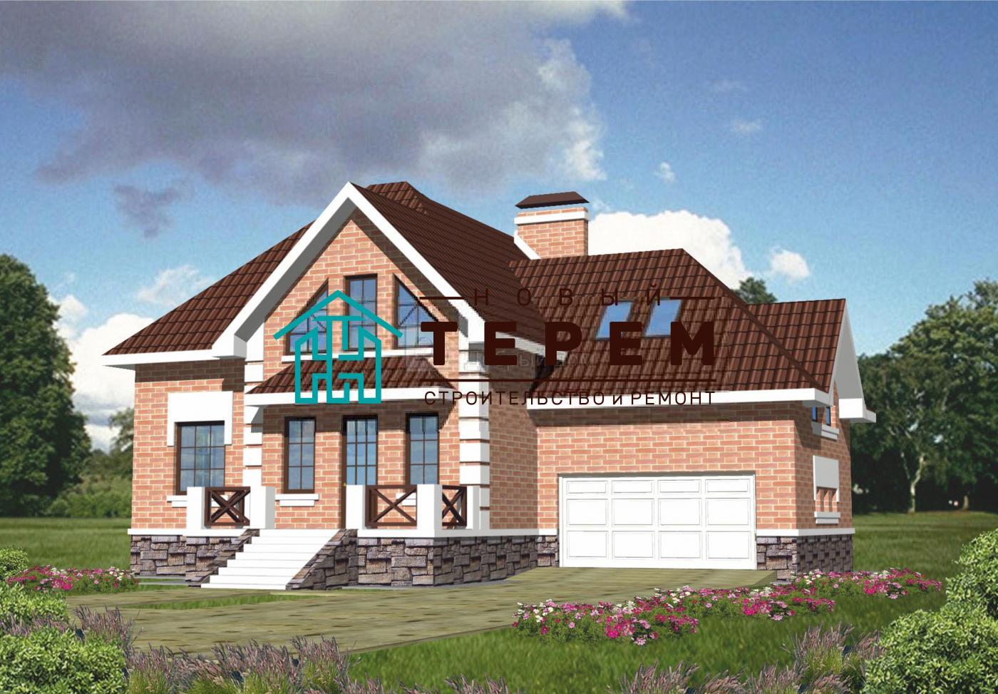Проект дома 17×15,9 м. с мансардной крышей