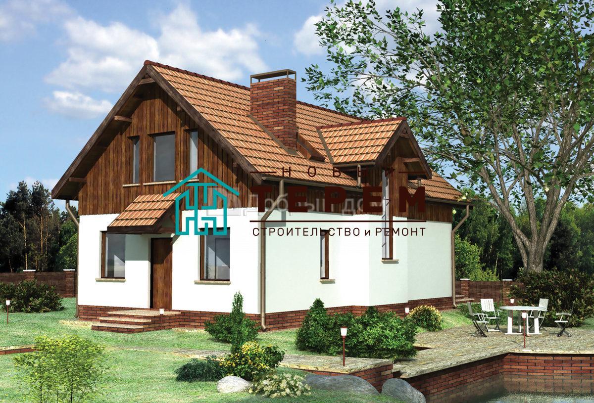 Проект дома 12,2×8 м. с двускатной крышей