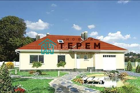 Дом 16,9×12,4 м. с четырехскатной крышей