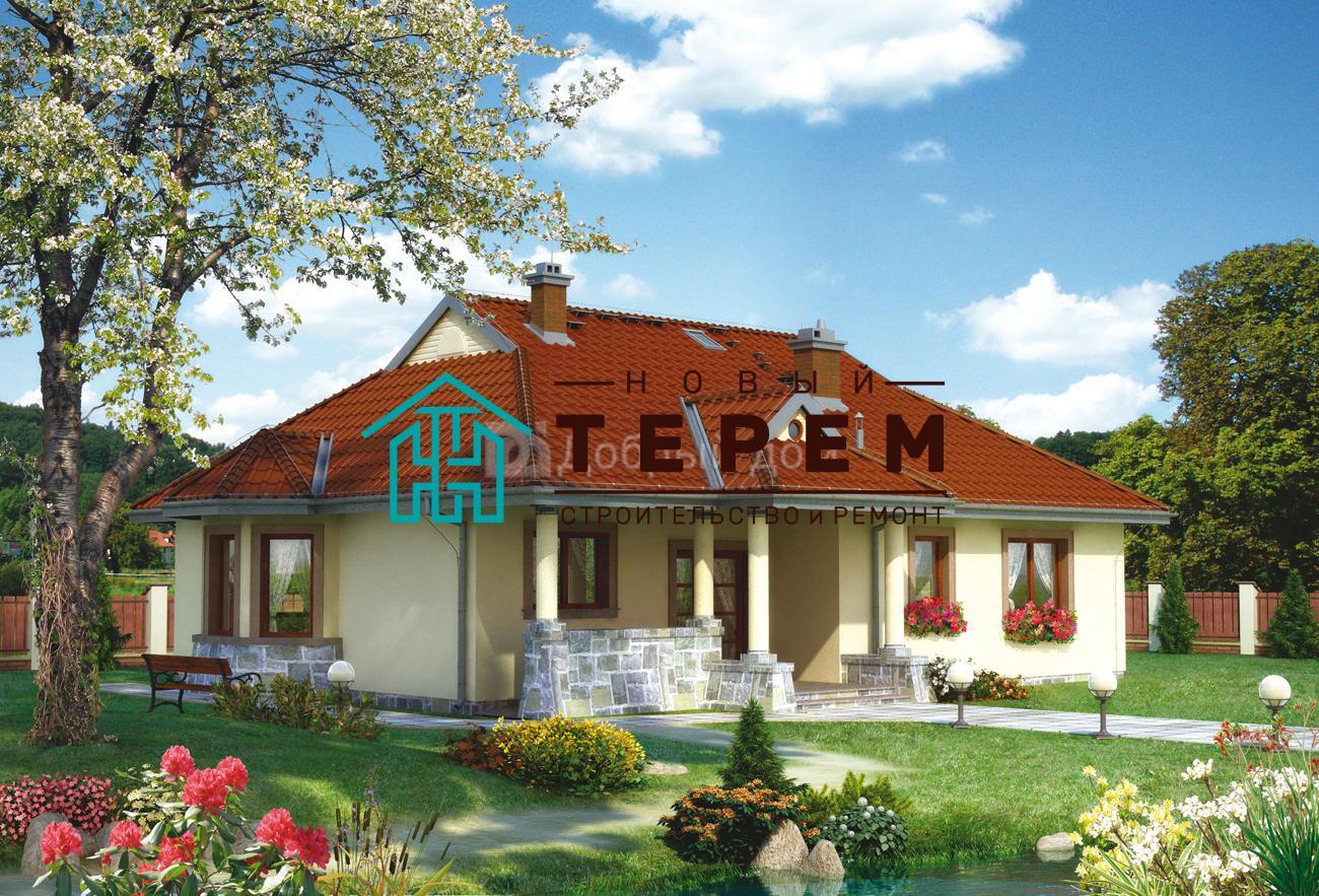 Дом 15,2×13,5 м. с четырехскатной крышей
