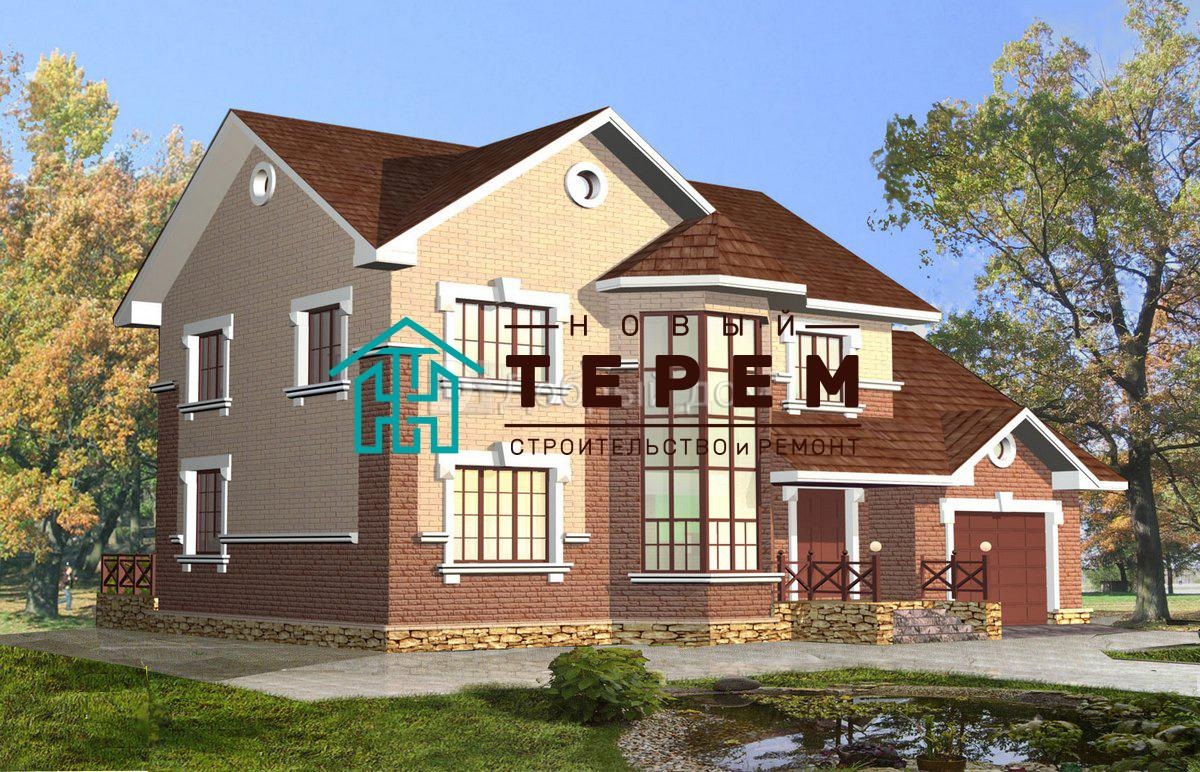 Проект дома 16,1×10,3 м. с двускатной крышей