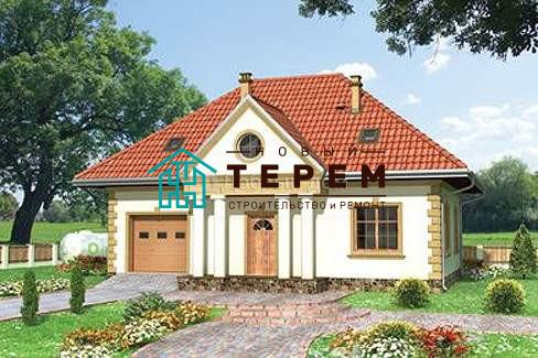 Дом 12,2×9,8 м. с четырехскатной крышей