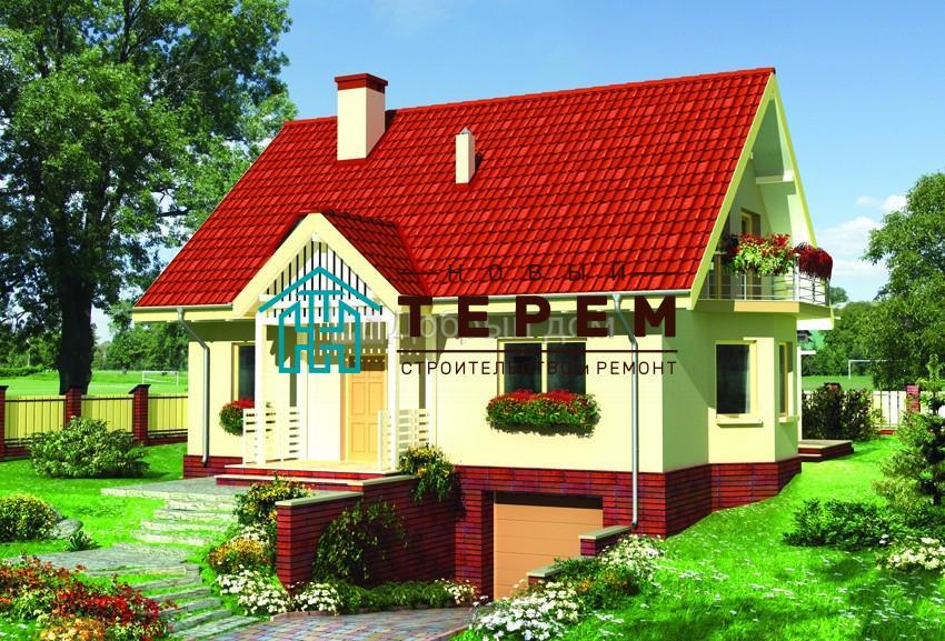 Проект дома 11,3×8,9 м. с двускатной крышей