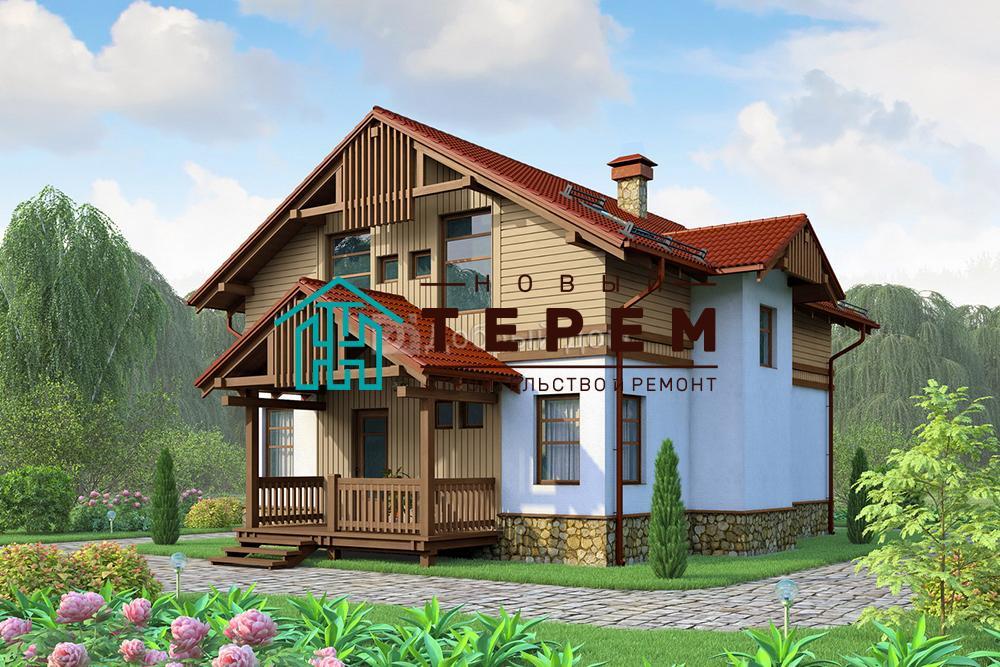 Проект дома 10×8 м. с двускатной крышей