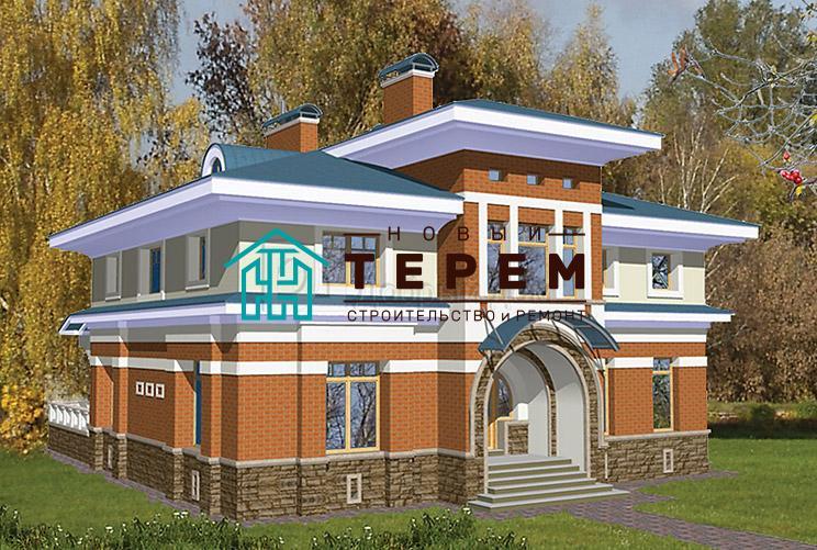 Проект дома 14,6×14,5 м. с четырехскатной крышей