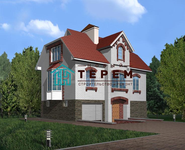 Проект дома 10,8×8,44 м. с мансардной крышей