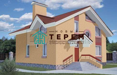 Проект дома 10,2×9 м. с двускатной крышей