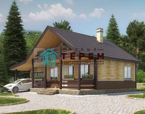 Проект дома 11.5 м х 7 м с двускатной крышей