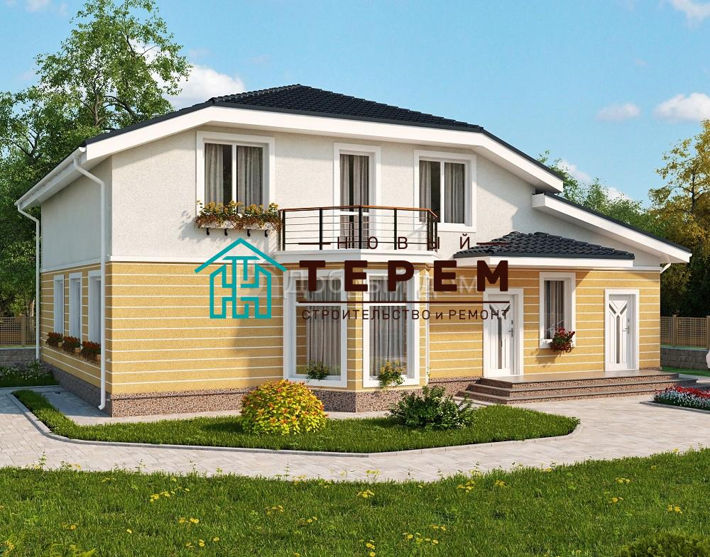 Проект дома 11×8 м. с четырехскатной крышей