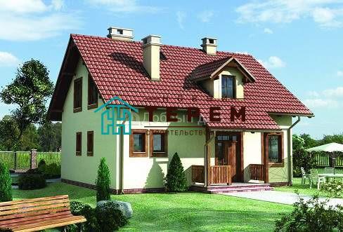 Проект дома 10,1×10,1 м. с двускатной крышей