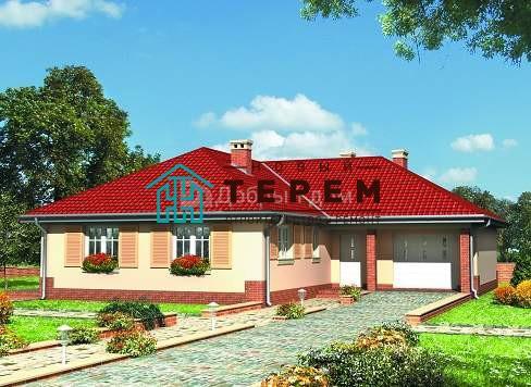 Дом 14,3×14,3 м. с четырехскатной крышей