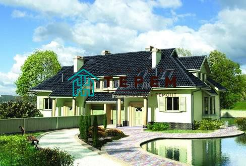 Дом 10,3×9,5 м. с мансардной крышей