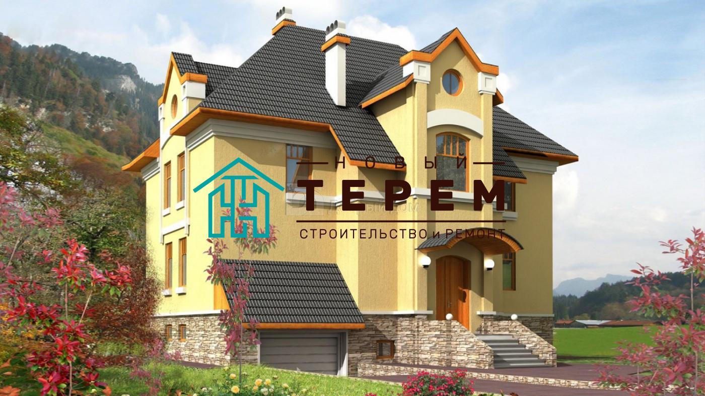 Дом 13,6×13,2 м. с четырехскатной крышей