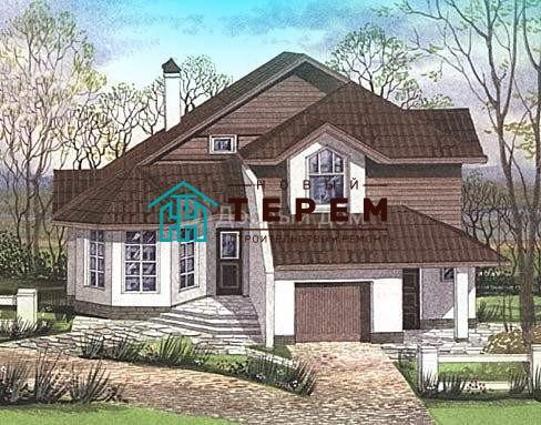 Проект дома 12,9×12 м. с мансардной крышей