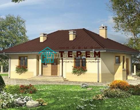 Дом 15,1×9,6 м. с четырехскатной крышей
