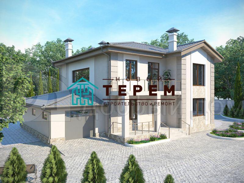Проект дома 14,7×11,5 м. с четырехскатной крышей