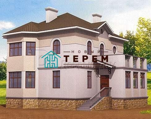 Дом 12,9×10,1 м. с четырехскатной крышей