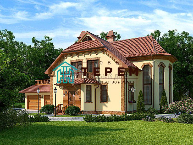 Проект дома 12,8×10 м. с мансардной крышей