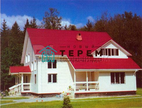 Проект дома 12.7 м х 10.8 м с двускатной крышей