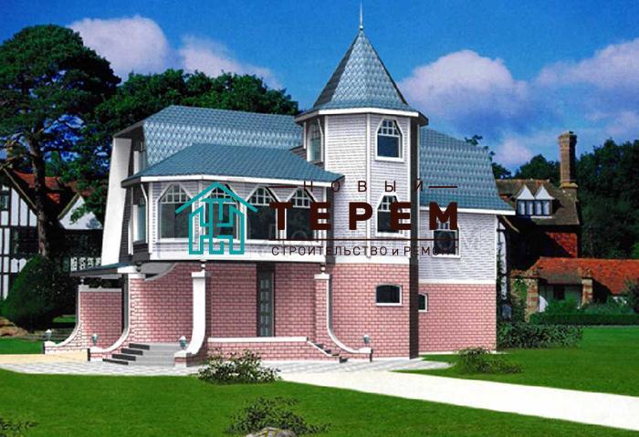 Дом 13,5×6,7 м. с мансардной крышей
