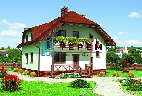 Дом 10,3×10 м. с мансардной крышей