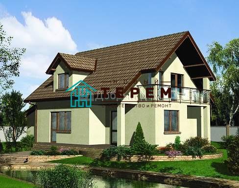 Проект дома 14,7×11,1 м. с двускатной крышей