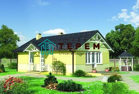 Дом 10,9×6,7 м. с двускатной крышей