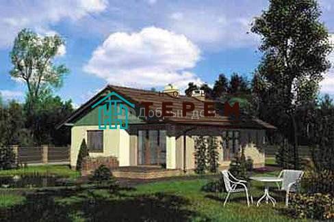 Дом 12,2×8,9 м. с двускатной крышей