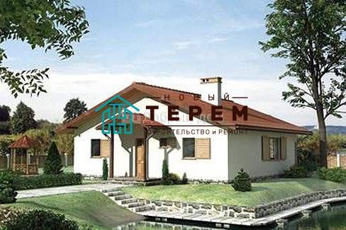 Проект дома 11×11 м. с двускатной крышей
