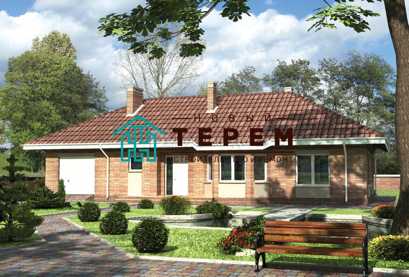 Дом 19,3×17,8 м. с четырехскатной крышей