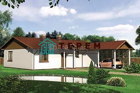 Дом 12,7×9,4 м. с двускатной крышей