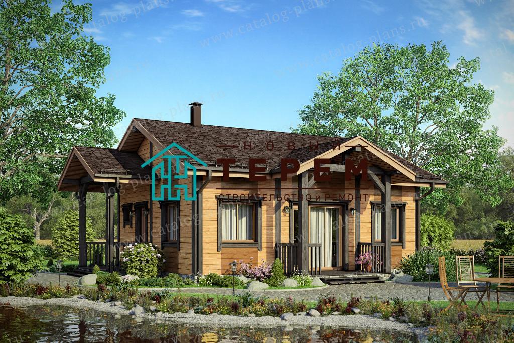 Проект одноэтажного дома 9.74×8.34м.