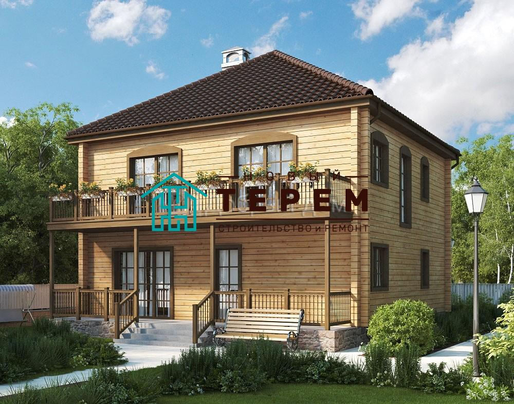 Проект дома 10.3 м х 9.9 м с четырехскатной крышей