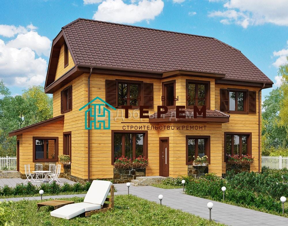 Проект дома 12.2 м х 8.2 м с мансардной крышей