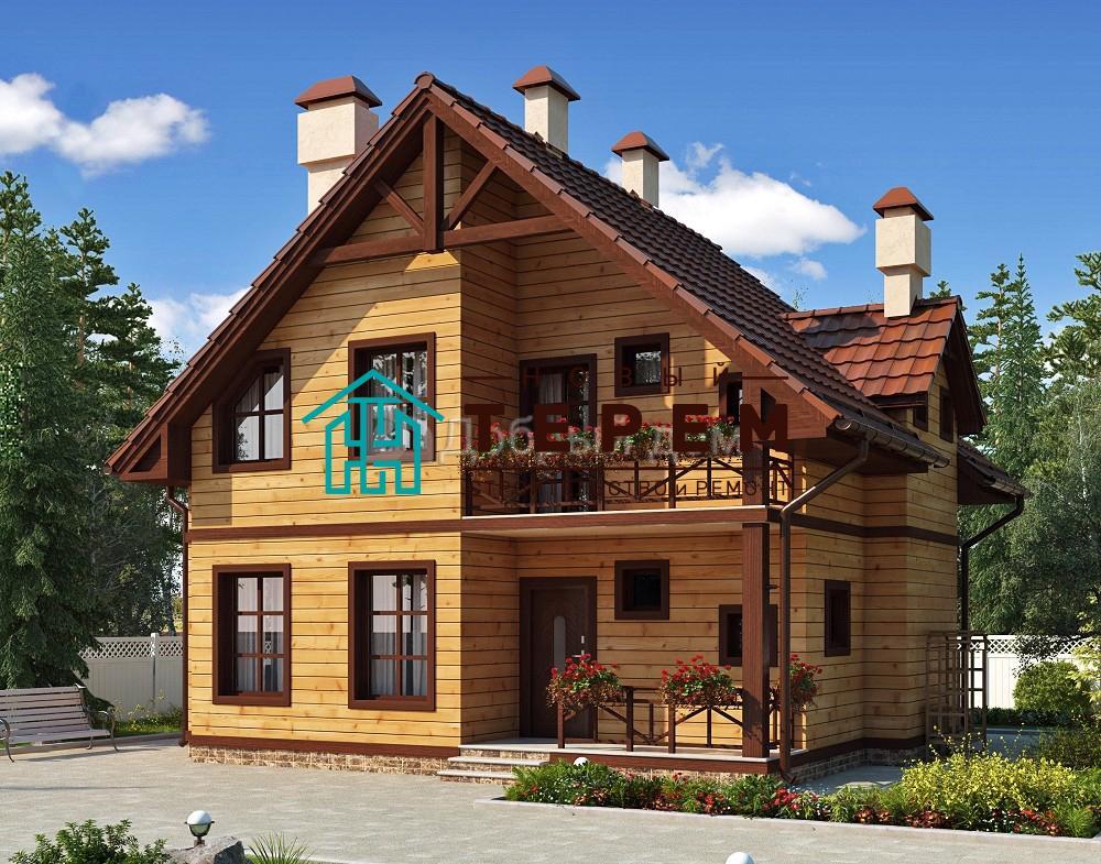 Проект дома 10.1 м х 9 м с двускатной крышей
