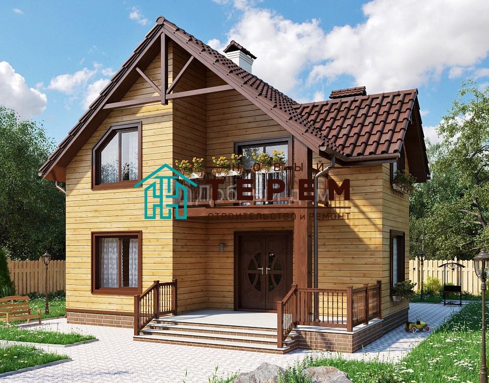 Проект дома 11.3 м х 10.1 м с двускатной крышей
