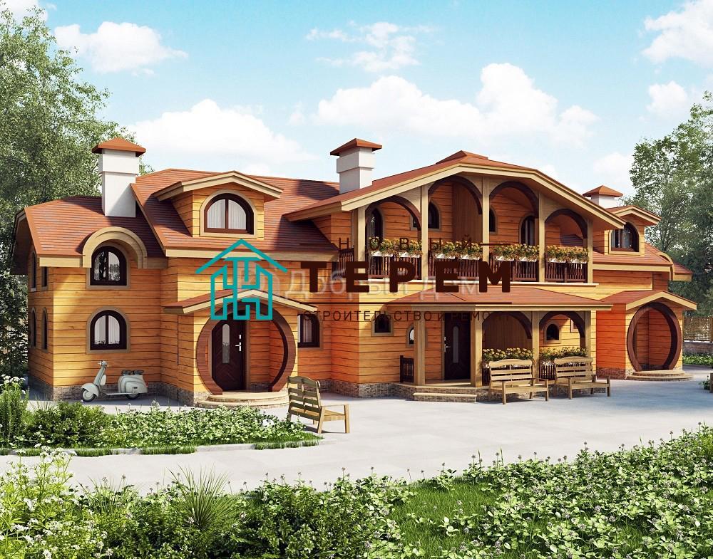 Проект дома 20.8 м х 14 м с мансардной крышей