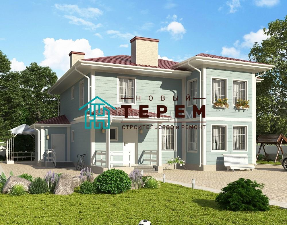 Проект дома 13 м х 11 м с четырехскатной крышей