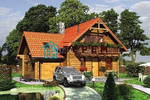 Проект дома 11.9 м х 9.8 м с мансардной крышей