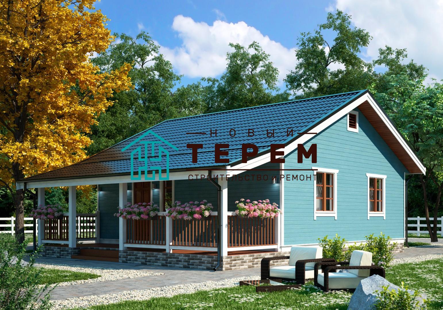 Терек-1-8К (Дом каркасный 7×8м одноэтажный)