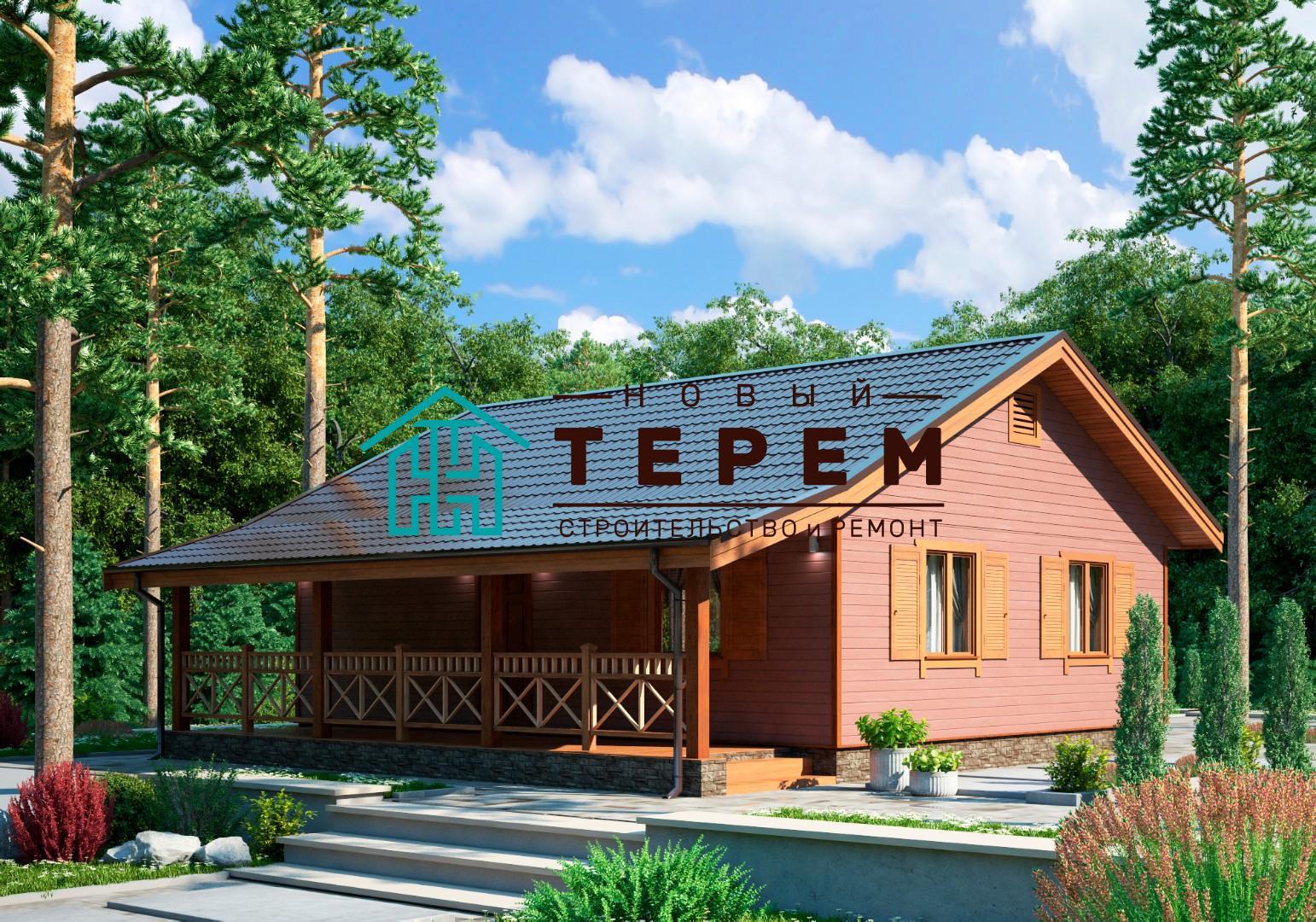 Терек-1-9К (Дом каркасный 7×9м одноэтажный)
