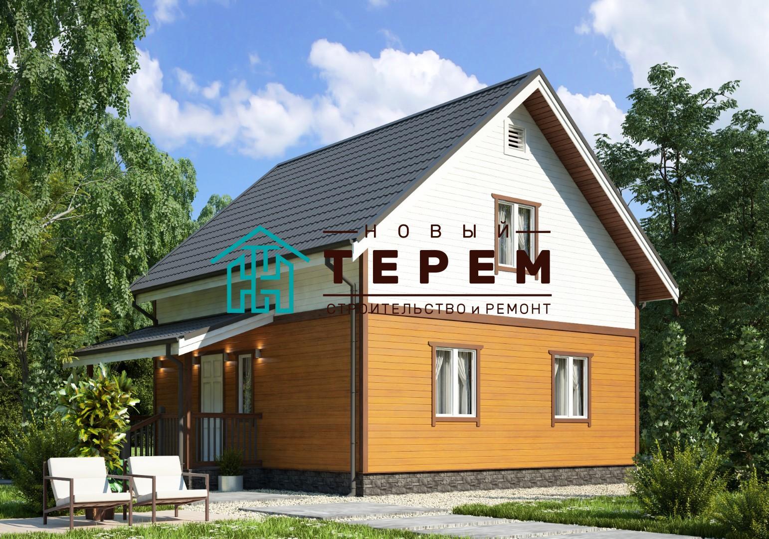 Терек-5-7К (Дом каркасный 7×7м)