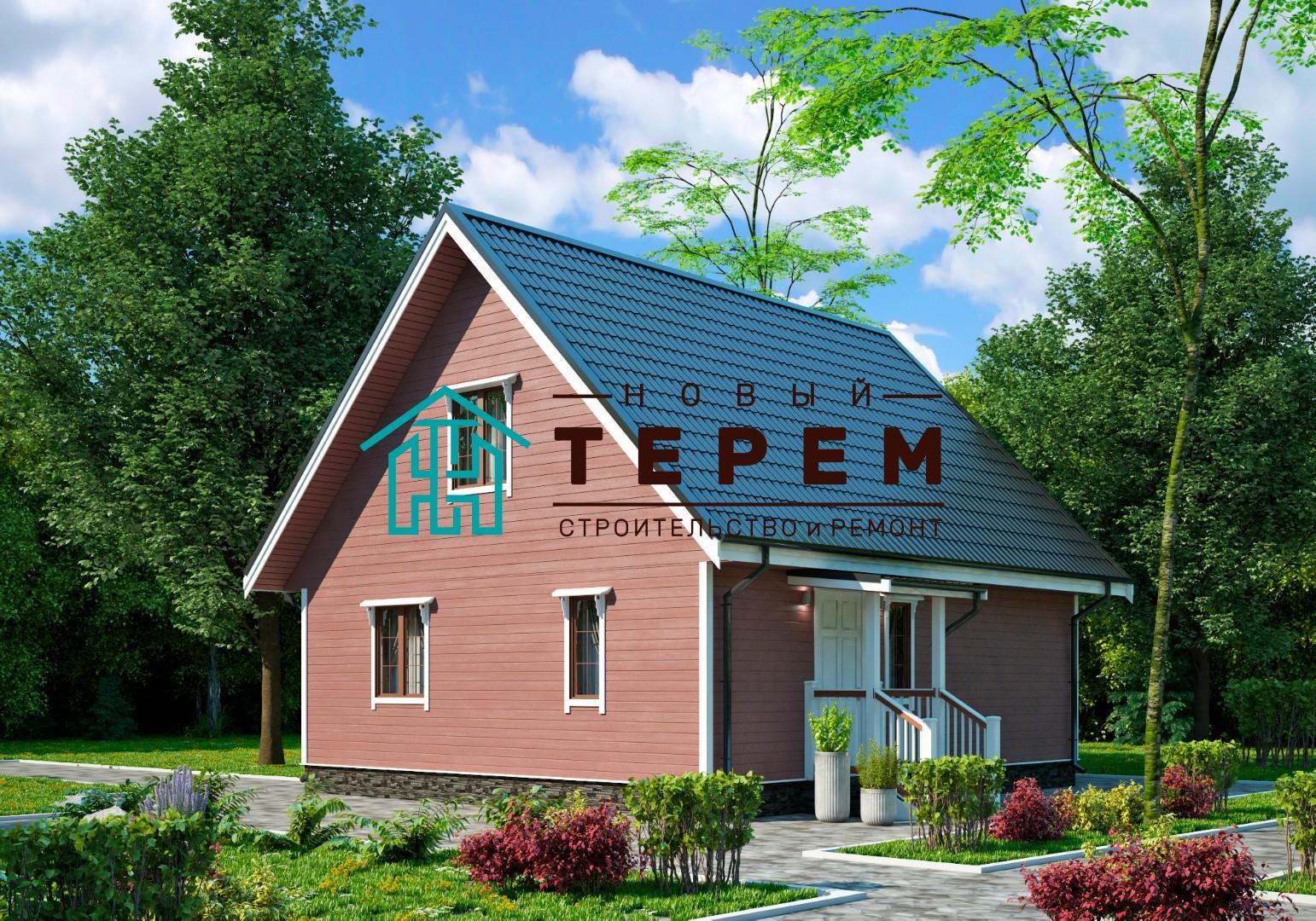 Терек-8К (Дом каркасный 7×8м)