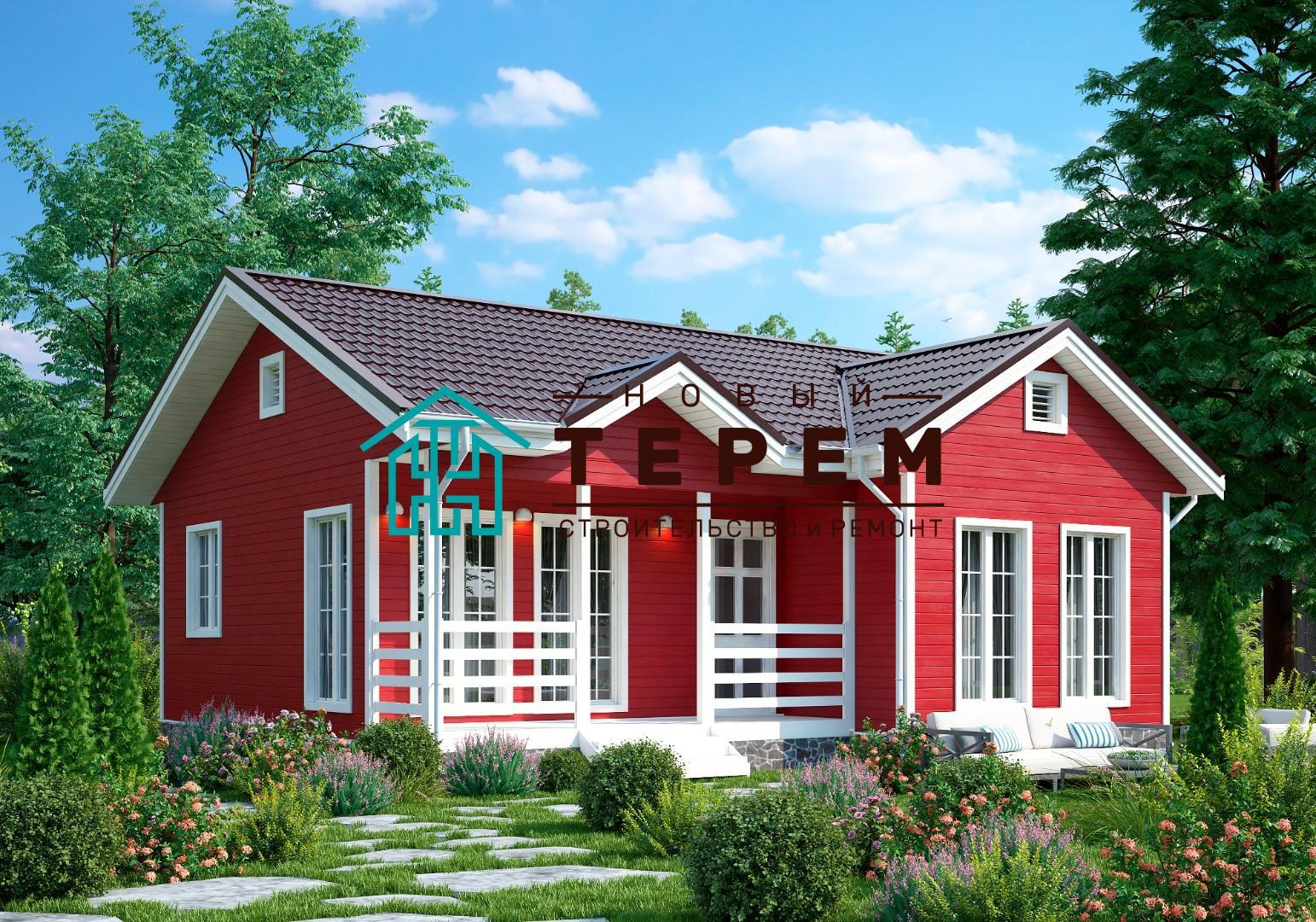 Яуза-К (Дом каркасный 8×9м одноэтажный)